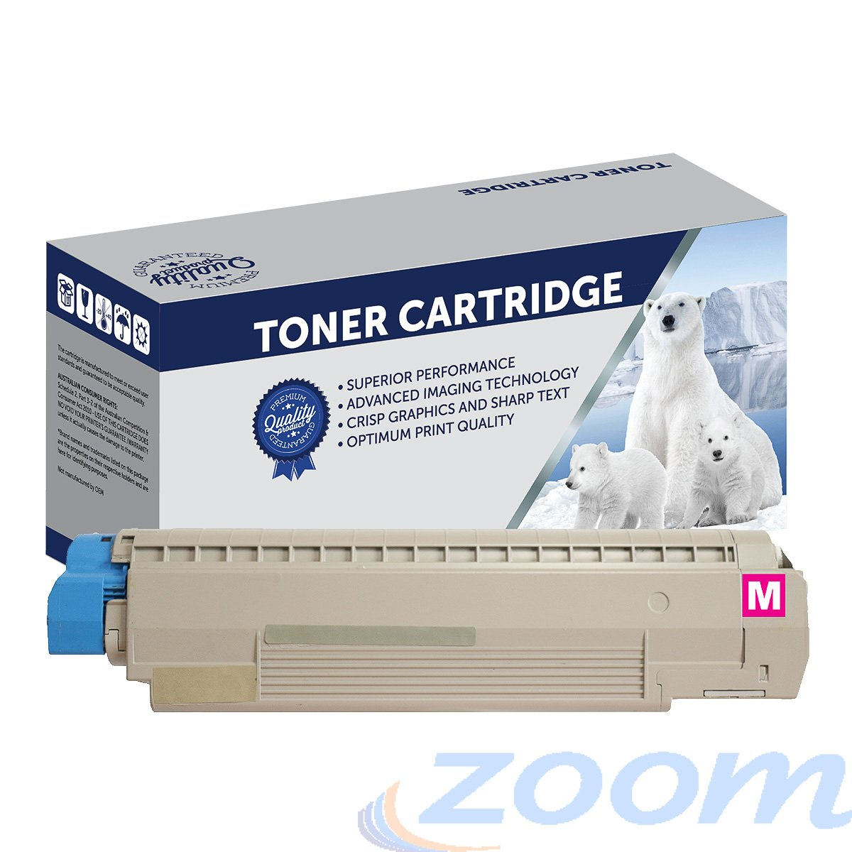 Premium Compatible Oki 44059134 Magenta Toner Cartridge