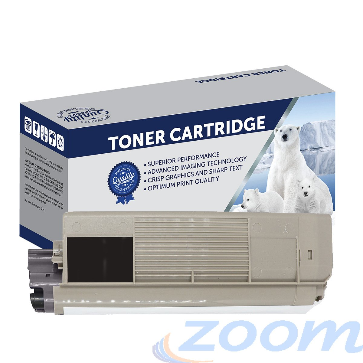 Premium Compatible Oki 44315336 Black Toner Cartridge