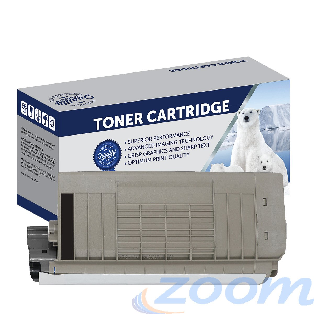 Premium Compatible Oki 44318640 Black Toner Cartridge