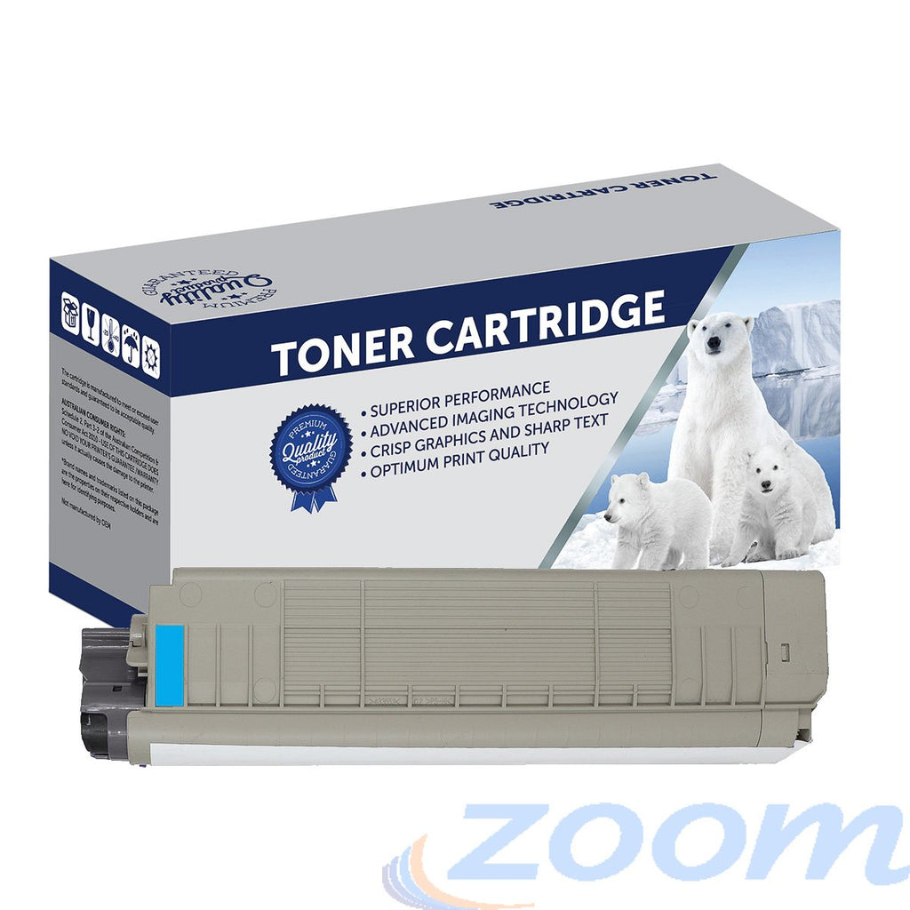 Premium Compatible Oki 44059243 Cyan Toner Cartridge