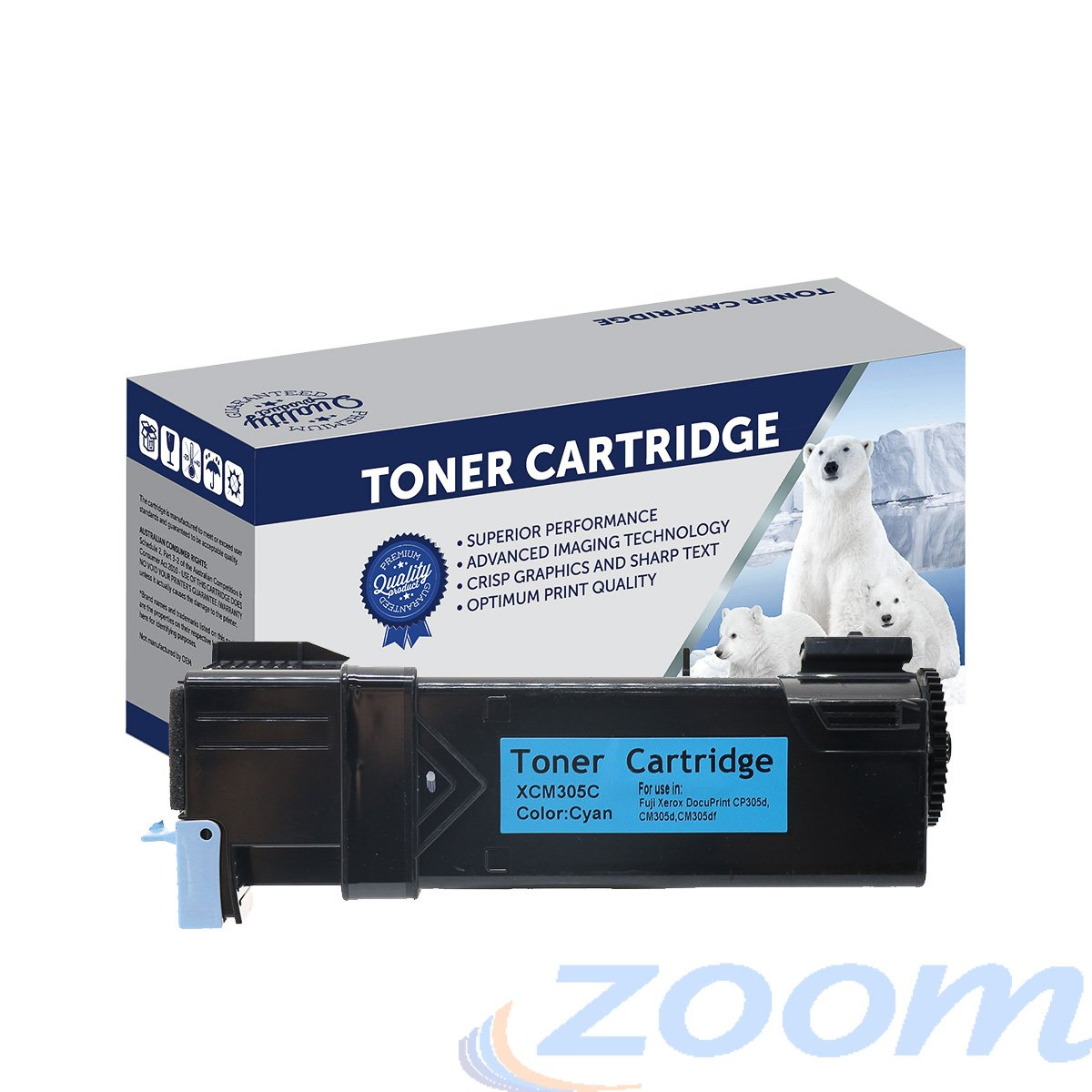 Premium Compatible Xerox CT201633 Cyan Toner Cartridge