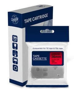 Premium Compatible Brother TZe461, TZ461 Black Text on Red Laminated Tape
