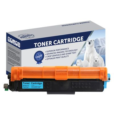 Brother TN257C, TN253C, Compatible Cyan High Yield Toner Cartridge - 2,500 Pages