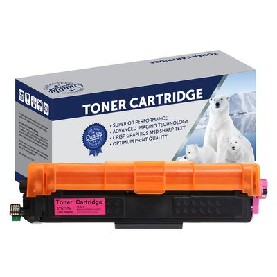 Brother TN257M, TN253M, Compatible Magenta High Yield Toner Cartridge - 2,500 Pages