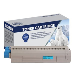 Premium Compatible Oki 45862830 Cyan Toner Cartridge