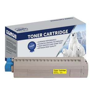 Premium Compatible Oki 45862828 Yellow Toner Cartridge