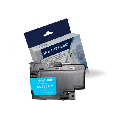 Brother LC-3339XLC, Compatible Cyan High Yield Ink Cartridge - 5,000 Pages