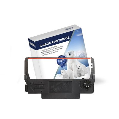 Premium Compatible Epson ERC30, ERC34 Black/Red Nylon Printer Ribbon