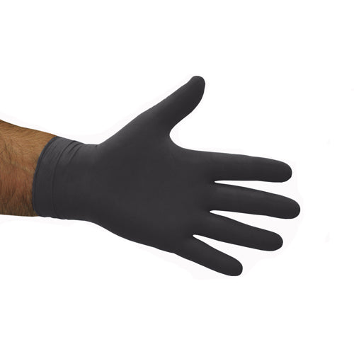 BLACK NITRILE POWDER FREE GLOVES