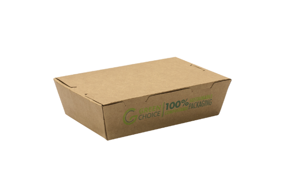 PLA KRAFT CONTAINER - TAKEAWAY BOX - 200 PER CARTON