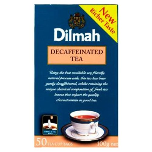 TEA DILMAH DECAFFEINATED -  25/BOX