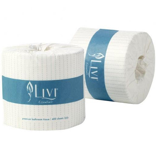 LIVI 2PLY TOILET TISSUE - 400 SHEETS 48/CTN