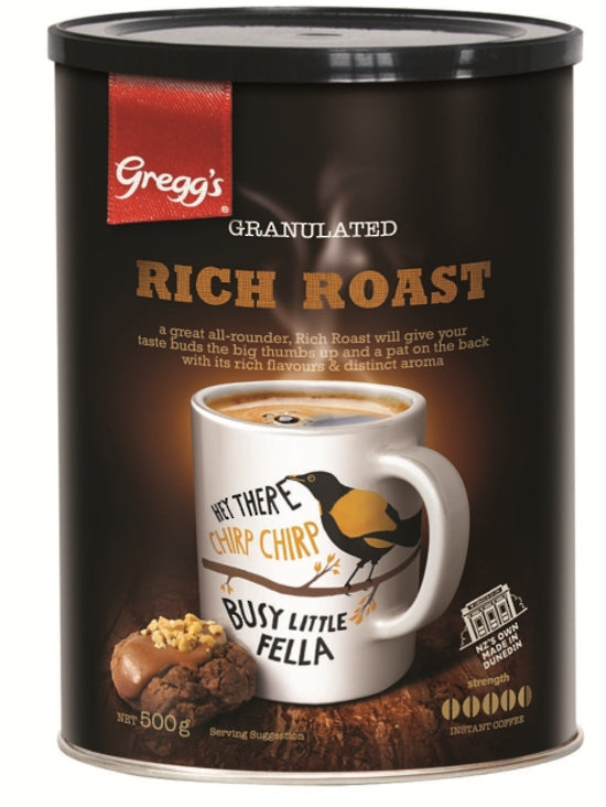 GREGG'S RICH ROAST TIN (GRANULES) -  500G