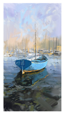 Digital Print: Boat Reflections 2