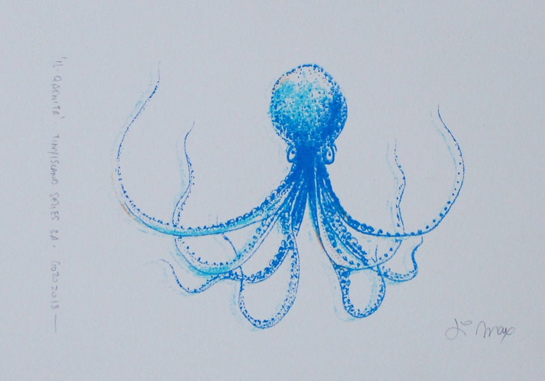 Il-Qarnita (Octopus) - (blue, light blue & yellow)
