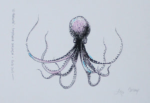 Il-Qarnita (Octopus)- (black, pink & blue)