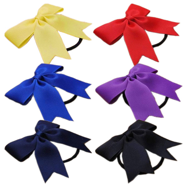 "2 x 3"" Mini Cheerleader Hair Bow Bobbles - The Hair Bowtique"