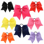 "1 x 8"" Large 'Cheerleader' Bow Bobble - The Hair Bowtique"