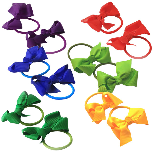 "2 x 3"" Ribbon Bow Hair Bobbles - The Hair Bowtique"