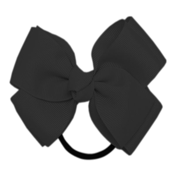 "1 x 4.5"" Double Layered Bow Hair Bobble - The Hair Bowtique"