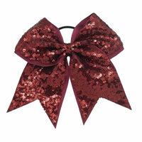 "1 x 8"" Large Sequinned Cheerleader Hair Bobble - The Hair Bowtique"