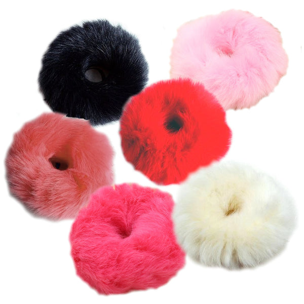 1 x Faux Fur Hair Scrunchie | 8cm Diameter - The Hair Bowtique