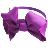 "1 x Large 6"" Ribbon Bow Head Band - The Hair Bowtique"