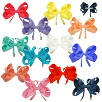 1 x Fancy Ribbon Bow Hair Clip with Diamante Feature - The Hair Bowtique
