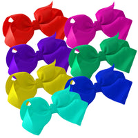 "1 x Large 6"" Ribbon Bow Hair Clip - The Hair Bowtique"