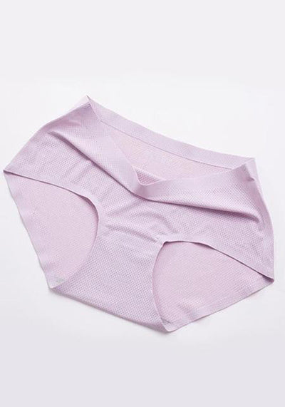 Sexy Ice Silk Seamless Mid Waist Panties