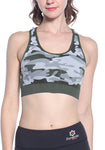Wireless Camo Cross Back Sports Bra
