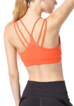 Solid Wireless Strappy Sports Bra