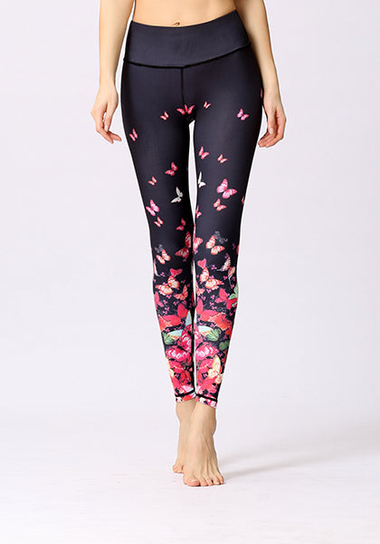 Red Butterfly High Elasticity Leggings