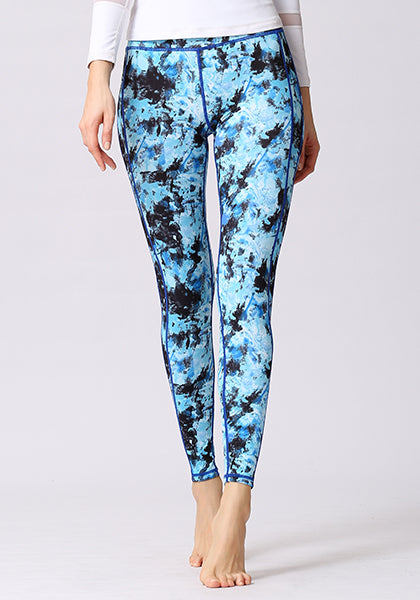 Purple Floral Printed High Waist Leggings