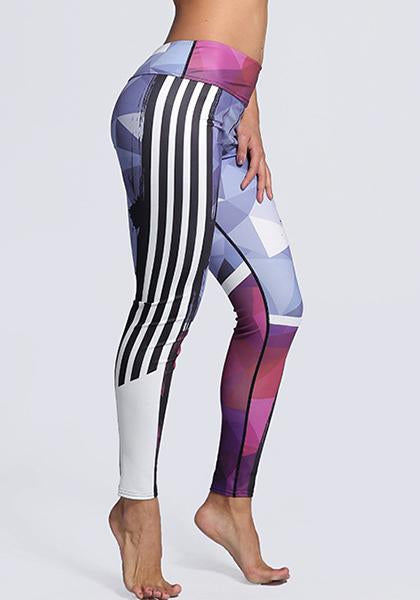 Outdoor Workout Digital Printed Yoga Leggings