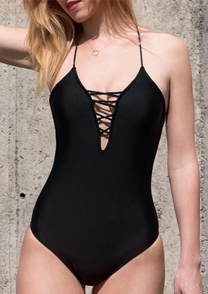 Seaside Resort Strapless One-piece Swimsuit