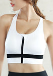 Wireless Front Closure Racerback Sports Bra