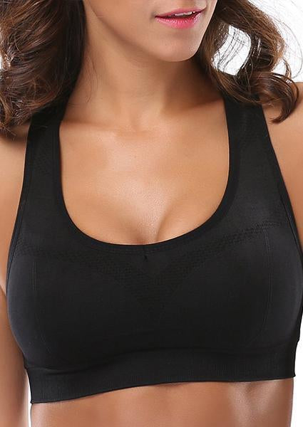 0443a3ee7de22 Anti-vibration Sports Bra Without Steel Ring-Sports bras-Black-S-