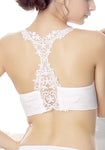 Embroidery Back Tube Top Padded Bandeau Moving Comfort Sports Bras-Sexy Lace-Yolamo.com