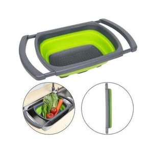Progressive Collapsible Colander-Kitchen Tools & Utensils-Green-Romancci.com