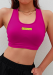 Quicklty-Drying Letter Printed Yoga Sports Bra-Sports bras-Rose Red-S-Yolamo.com