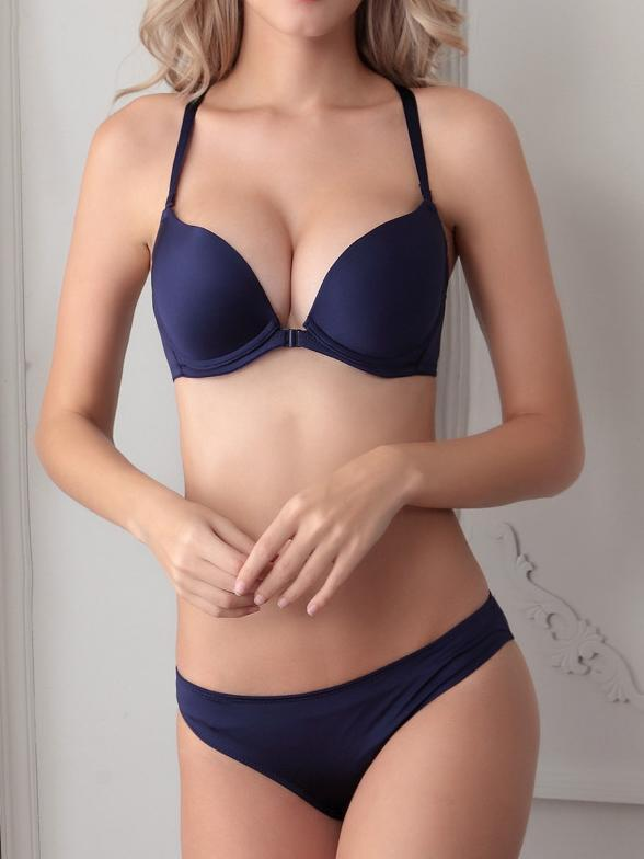 Smooth Front Close Sexy Bra Suit-T-shirt Bras-Yolamo.com