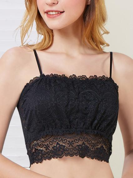 Super Comfortable Wireless Sexy Lace Bra-Sexy Lace-Black-L-Yolamo.com