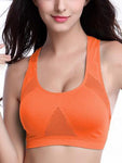 Wire Free Mesh Smooth Sports Bra-Sports bras-Orange-M-Yolamo.com