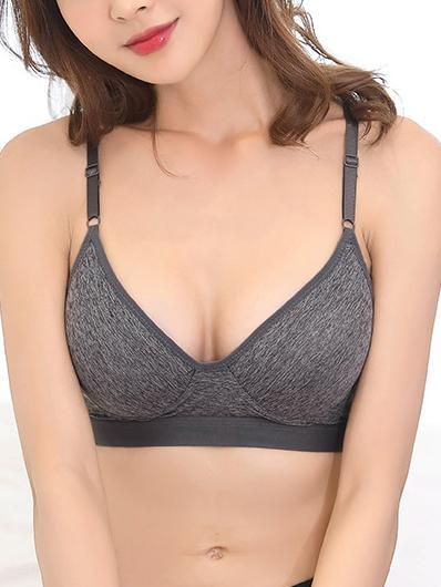 Y-type Beautiful Back Wireless Comfortable Bra-T-shirt Bras-Grey-M-Yolamo.com