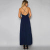 Open Hem Embroidery Halter Dress