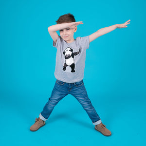 Boys dab dance t-shirt panda sequin reversible