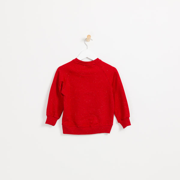 Boys red soft slogan sweatshirt just so hype