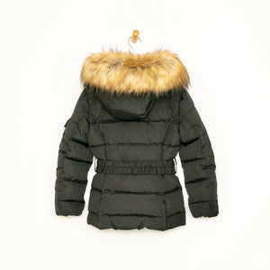 Padded Out Coat - Black