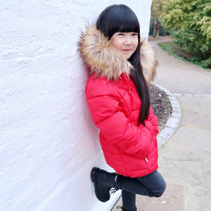 Padded Out Coat - Red